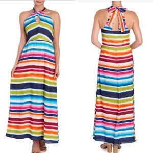 🆕🏝 Ombré Stripe Keyhole Maxi Dress